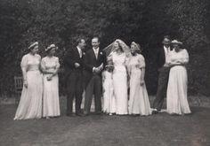 Ursula Longstaff Longstaff's wedding day with John Bowlby and bridesmaids Family Album, Ursula, Photo Archive, More Photos, Bridesmaids, Fur Coat, Wedding Day, Fashion, Pi Day Wedding