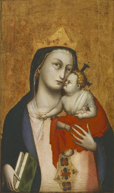 Virgin and Child, with a Dog (c. 1330-1335) attributed to Dalmasio (first documented 1342-died before 1377), Italian (Philadelphia Museum of Art)
