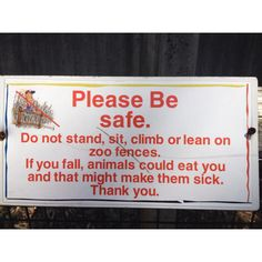 Knoxville Zoo is serious about not feeding the animals!