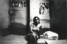 A portrait from Kaveh Golestan's series of photographs of prostitutes in Tehran's Citadel, 1975-1977.