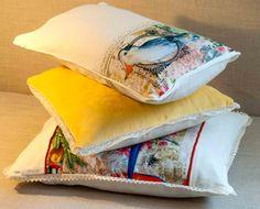 Detalhes de almofadas, kissen, pillows.