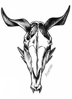 #astartian #art #hellhorse #skull #sketch #traditonal