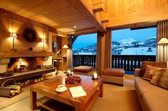 Hotel Alpaga Megeve in the french alps Gorgeous Fireplaces, Hotel Interior Design, Luxury Ski Hotel, Hotel, Megeve, Hotel Interiors, Fireplace Design, Trending Decor, Fireplace