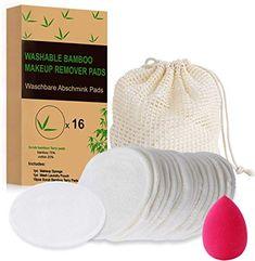 Tampons Démaquillants fibre de bambou丨Tampons Décapants réutilisables丨Lingette lavable en coton丨Disque Maquillage Bio (16pcs) + 1 Sac de lavage + 1 éponge de maquillage丨Boîte d'emballage biodégradable: Amazon.fr: Beauté et Parfum Makeup Remover Pads, Makeup Wipes, Male Grooming, Makeup Sponge, Facial Cleansing, Fibre, Cotton Pads, Tampons, Knitted Hats