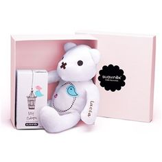 Set Baby Cologne + osito personalizable rosa