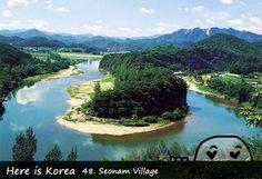 Seonam Village (Korean Peninsula-shaped Cliffs) - Gangwon-do Yeongwol-gun