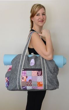 Yoga bag tutorial. really fun way to make your own. ocd: obsessive crafting disorder: yoga bag of Awesome