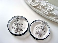 Art Nouveau Flowers plugs for gauged ears 38mm 1 by DinaFragola, $28.00