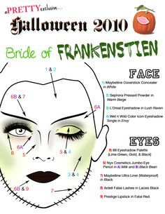 Halloween Makeup-Bride of Frankenstein Tutorial