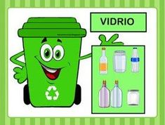 #reciclaje_basura Earth Day Activities, Back To School Activities, Activity Centers, Learning Centers, Recycling For Kids, Kid Experiments, Spelling Bee, Sistema Solar, Save The Planet