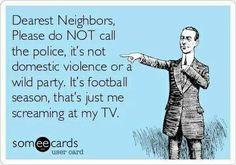 Lol so true when I watch football....
