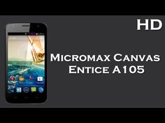 Micromax Canvas Entice A105 lunched with 5-inch WVGA display, Android 4.4, 1900mAh Battery, 4GB ROM