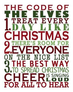 The code of the elves!