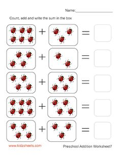 Preschool Addition (Sheet7)