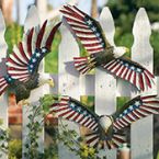 Patriotic Eagle Outdoor Fence Decor