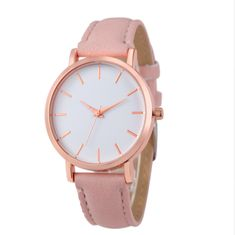 Cute ladies watch Pink fashion tumblr jewelry modern rose gold