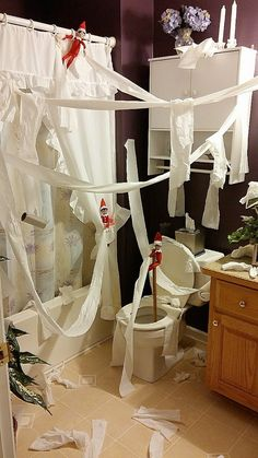 Toilet Papered Bathroom