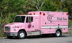 Miami Fire Department | Miami-Dade Fire Rescue Pink Heals Tour 1998 Freightliner/ALF Medic ...