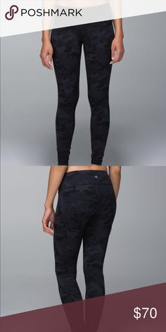 36ec80e1 Lululemon Black Camo Been worn a few times, not noticeable at all, size 4