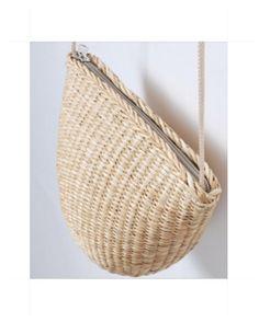 Straw Bag Small Messenger Tote Straw Crossbody by fluteofthehour