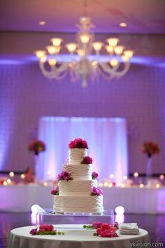 Pink peony wedding cake.  Photo by Yasmin Khajavi
