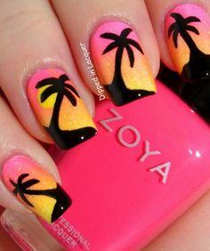 Mooie nagels voor in de zomer. Kan je altijd ergens laten doen als je deze afbeelding laat zien.
