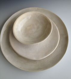 Handmade ceramic plates, dinnerware, Wedding gifts, Set of 3 Organic shaped Tableware, pottery plates Dinnerware set by Leslie Freeman on Etsy, $92.37 AUD