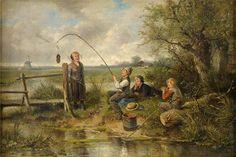 Johan Mari Henri ten Kate - Vissen in een sloot