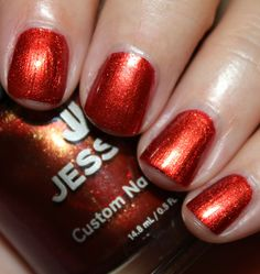 """Jessica's Overture: """"is a coppery/orange shimmer. Amazing glow and intensity from this color. This was also just two coats and a really nice formula. Jessica Cosmetics, Jessica Geleration, Overture, Daily Nail, Autumn Nails, Nail Bar, Opening Night, Corals, Vixen"""