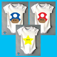 Hey, I found this really awesome Etsy listing at https://www.etsy.com/listing/220374570/super-mario-toads-star-baby-grows-by