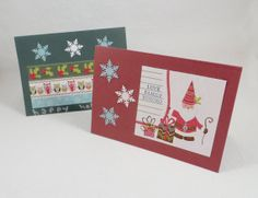 9 Assorted Theme Holiday Greeting Cards with Envelopes, Blank Inside, for Christmas or Winter by VeryCoolCrafts, Kristen Gagnon