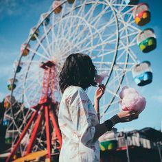 You're sweeter than candy & warmer than summer. @taramilktea ☀️ • Luna Park, Sydney, Australia.