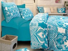 Double Duvet Cover Set  100 Cotton  Sultan by linensandpillows, $132.00 Double Duvet Covers, Duvet Cover Sets, Bed Liner, Comforters, Blanket, Furniture, Home Decor, Cotton, Beds