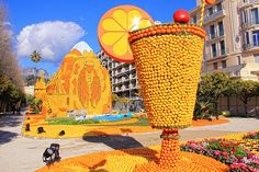 "Festival of lemon  ""Fete du Citron""  French riviera"