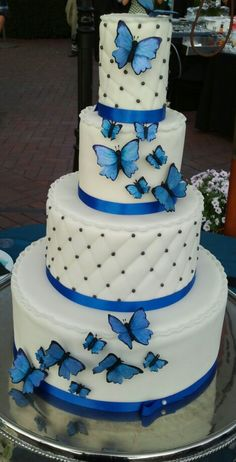 wedding cake butterfly edible blue butterfly wedding cake i made crafts 22143