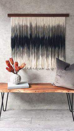 Dip dye tapestryfiber artwall hangingwall artwall | Etsy
