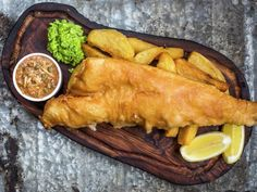 Gordon Ramsay's Classic Beer Badgers Fish and Mushy Peas