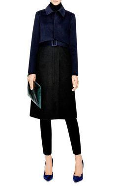 Wool-Blend Tromp L'Oeil Coat by Oscar de la Renta - Moda Operandi