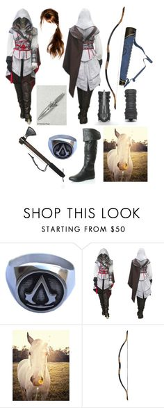 """""""Inspired by the video game Assassin's Creed"""" by crimsonblackrose ❤ liked on Polyvore featuring Universal Lighting and Decor, women's clothing, women, female, woman, misses and juniors"""