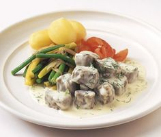 Recept: Dillkött Kids Menu, Swedish Recipes, Recipe Collection, My Recipes, Love Food, Potato Salad, Deserts, Meat, Chicken
