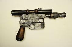 Han Solo's BlasTech Industries DL-44 heavy blaster pistol - from Star Wars [1977] (1478×979) #movies #film #guns #weapons