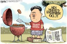 FAMILY FEUD | Feb/17/17 Rick McKee - The Augusta Chronicle - Kim Jong Un Family Reunion -