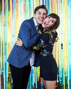 MatPat and Stephanie at the Streamy Awards 2016 Film Theory, Game Theory, Instagram Photo Booth, Stephanie Patrick, Escape The Night, Hello Internet, Ricky Dillon, Youtube Gamer, Joey Graceffa