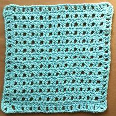 blue rattan dishcloth