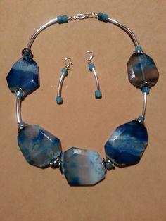 Blue Ocean Agate Set
