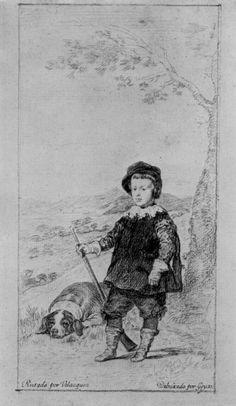 Goya y Lucientes, Francisco de: dibujos de Velázquez: Retrato del príncipe Don Carlos Batasare