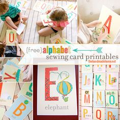 My Owl Barn: Printable Alphabet Sewing Cards