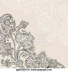 Hand Drawn Paisley Ornament