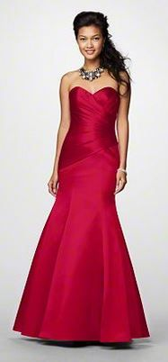 Reem's Pick from Alfred Angelo in Cherry // Style 7168 // Let me just say, Reem, you look more beautiful than the models in the pictures in this dress.  Inta helluuay habibti! <3 <3