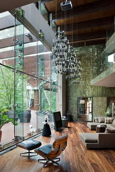 nonconcept:  Contemporary chic house ~ living room in Russia by Olga Freyman.